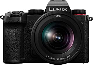 Panasonic LUMIX S5 Full Frame Mirrorless Camera, 4K 60P Video Recording with Flip Screen & WiFi, LUMIX S 20-60mm F3.5-5.6 ...