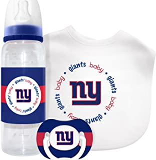 New York Giants Baby Gift Set: Kickoff Collection 3-Piece Baby Feeding Set