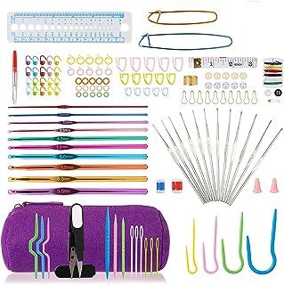 Kit de crochets à tricoter - Accessoires - Crochets à gros chas - Aiguilles à tricoter - Marqueurs de mailles - Accessoire...