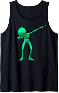 Dabbing Alien Dab UFO Lover Halloween Party Easy Costume   Tank Top