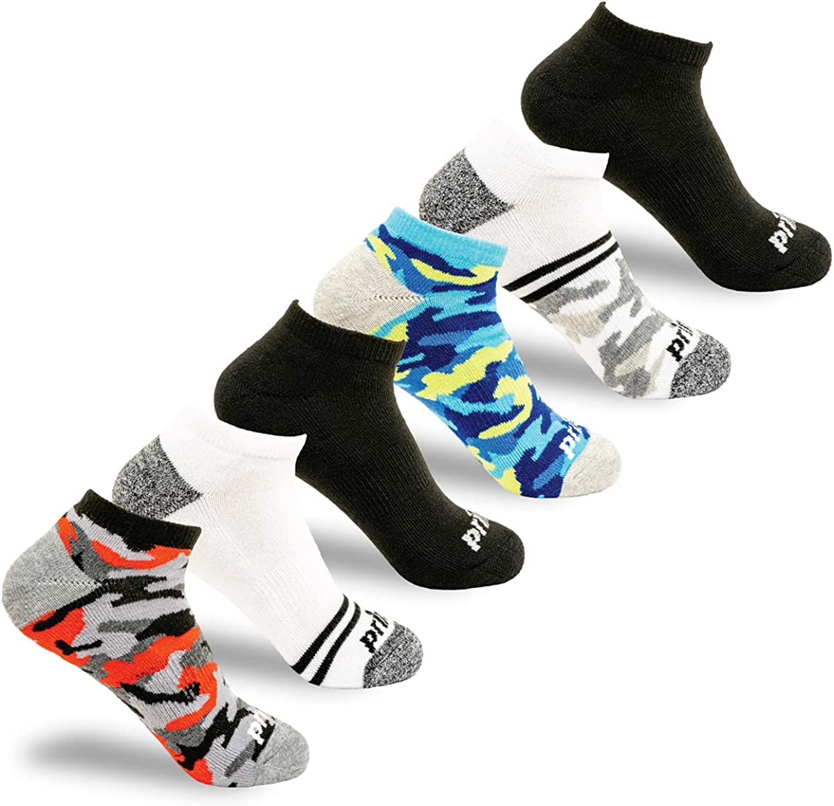 Prince Boys' Low Cut Athletic Socks with Cushion for Active Kids (6 Pair Pack)