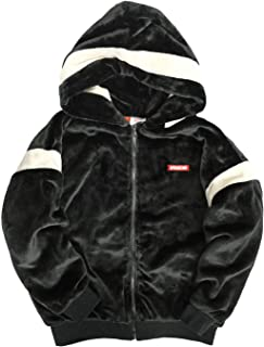 VISION フードファーブルゾン ヴィジョンストリートウェア ロゴ刺繍 ファー パーカー メンズ ジャケット 秋冬 もこもこ