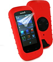 Tuff Luv Silicone Gel Skin Case Cover for Garmin Edge 1000 and Screen Protector - Red
