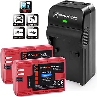 Baxxtar Razer 600 II - Cargador 5en1 - Compatible para Batería Canon LP-E6-2X Baxxtar Pro Energy batería (2040mAh) - para Canon EOS 70D 60D 60Da 7D 7D Mark II 6D 5D Mark II III