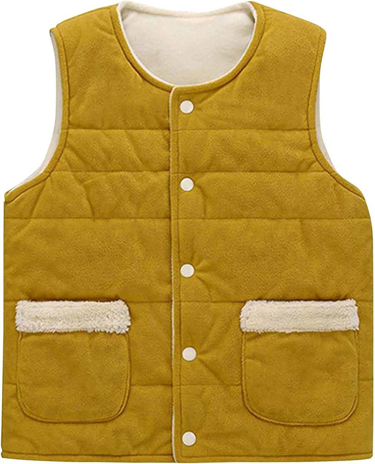 Kids Baby Girls Max 41% OFF Boys Cotton Vest Max 73% OFF Solid Sleeveless Coat Jacket Co