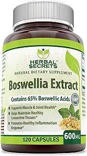 Herbal Secrets Boswellia Serrata Extract (65% Boswellic Acids) 600 mg 120 Capsules (Non-GMO) - Non Synthetic- Supports Mus...
