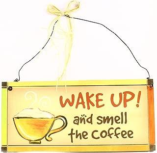 """NIB 6603 """"Coffee Dreams"""" Wood Plaque"""