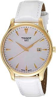 ساعة تيسوت انالوج كوارتز للسيدات بسوار جلدي T063.610.36.116.00