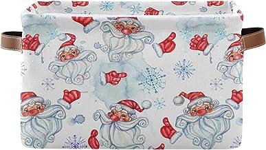 Duży składany kosz do przechowywania z uchwytami, Boże Narodzenie Mikołaj człowiek materiał składane pojemniki do przechow...