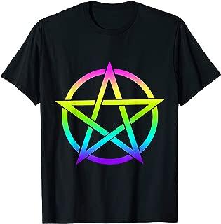 Pentagram Rainbow, Satanic Pastel Goth Witch Womens Girls T-Shirt