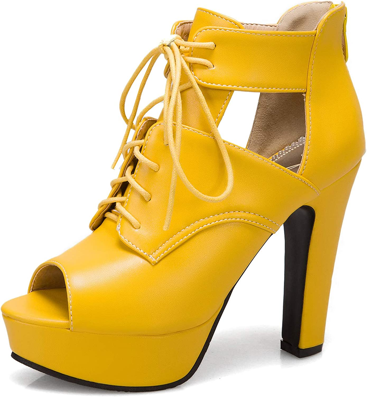 SaraIris Heeled Sandals 早割クーポン for 最新号掲載アイテム Women Sa Chunky Cutout Heel Lace-up