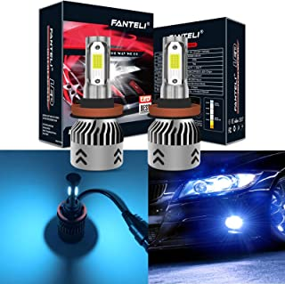 FANTELI H11 (H8, H9) 8000K Ice Blue LED Headlight Bulbs All-in-One Conversion Kit - 72W 8000LM High Beam/Low Beam/Fog Lights Extremely Bright