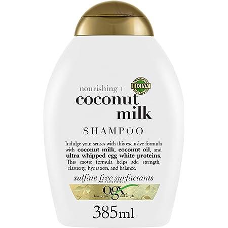 OGX Shampoo Nutriente per la forza e l'elasticità dei capelli, Latte di cocco, 385 ml