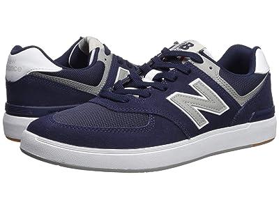 New Balance Numeric AM574 (Navy/Grey Suede) Men