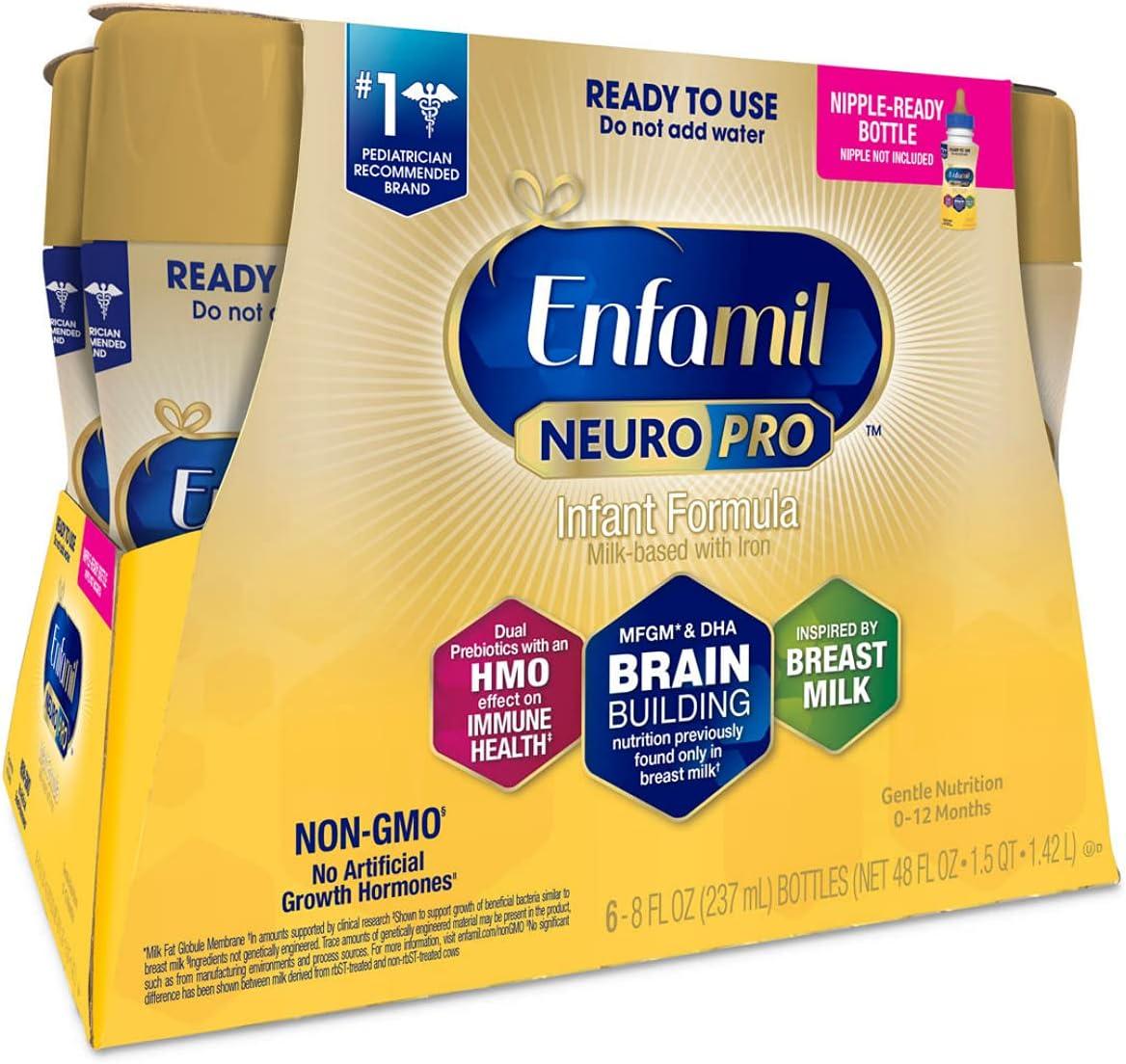 Enfamil NeuroPro Ready-to-Use Baby Formula Max 48% OFF to 2021 new Feed Brain Ready