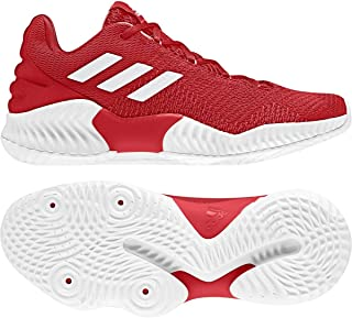 adidas Mens Pro Bounce 2018 Low Basketball Shoe, Adult, Red/White/Red