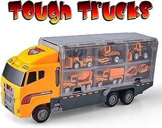 fire Cable Tough Trucks   Construction Toy Truck Set   Dump Truck Mac Truck Wheel Loader Bulldozer Excavator Mixer Backhoe (no Batteries Needed)