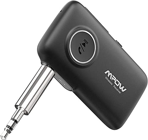 Mpow BH298 Bluetooth receiver for car, Aux Wireless Bluetooth with Bluetooth 5.0 for Wired Speakers/Headphones/Home M...