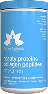 Hydrolyzed Collagen Peptides Powder for Women by Torrie's Naturals | Certified Grass-Fed Collagen Protein, Keto & Paleo Friendly, Unflavored & Mixes Easily | #1 Best Women's Collagen Supplement