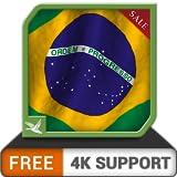 素晴らしい無料のブラジル国旗-ブラジルの国民と独立記念日をHDR 8K 4Kテレビと火器で祝うのに最適なアプリ
