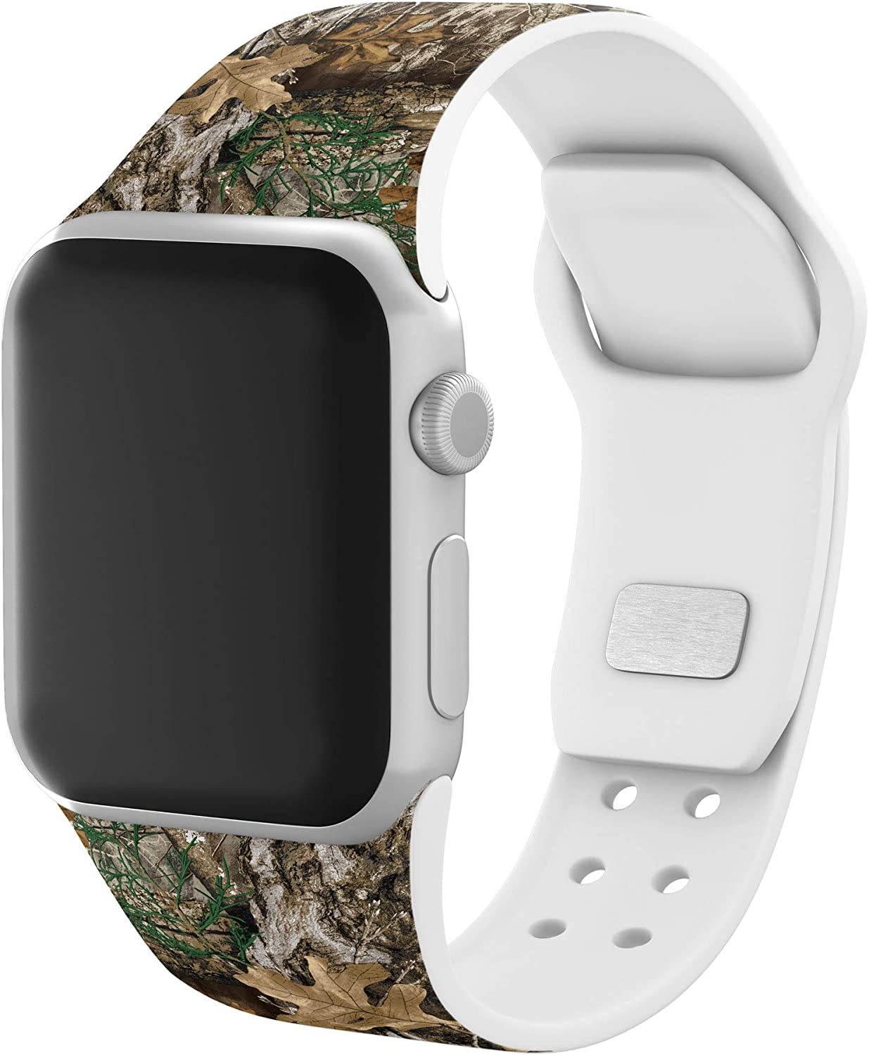 AFFINITY BANDS Realtree EDGE Camo Silicone Watch Band Compatible with Apple Watch 38/40mm