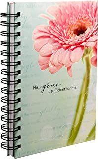His Grace Is Sufficient Large Hardcover Wirebound Journal - 2 Corinthians 12:9-11