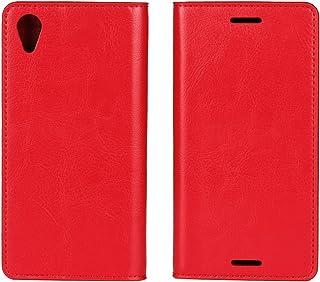 جراب محفظة لهاتف Sony Xperia X Performance من الجلد الأصلي من Jaorty بتصميم كتاب مع مسند مزود بفتحات للبطاقات/مقصورة للنقو...