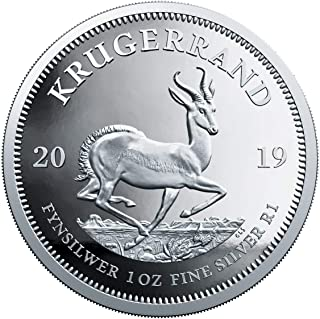 2019 ZA Silver Proof Coin Box with COA 1 Krugerrand GEM Proof Uncertified