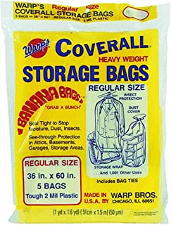 WARP BROTHERS - 5-Pack 36x60-Inch Storage Bags