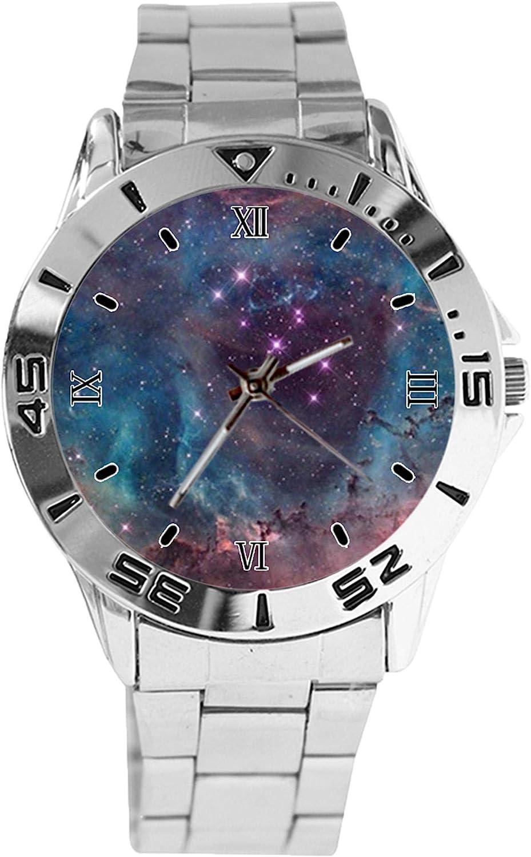 Nebula Galaxy Cool Design Overseas parallel import regular item Analog Quartz Dial free Watch Wrist Silver