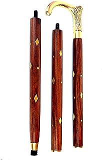 RETAILHOOKS Walking Stick Antique Style Brass Wood Cane Designer Walking Stick Vintage