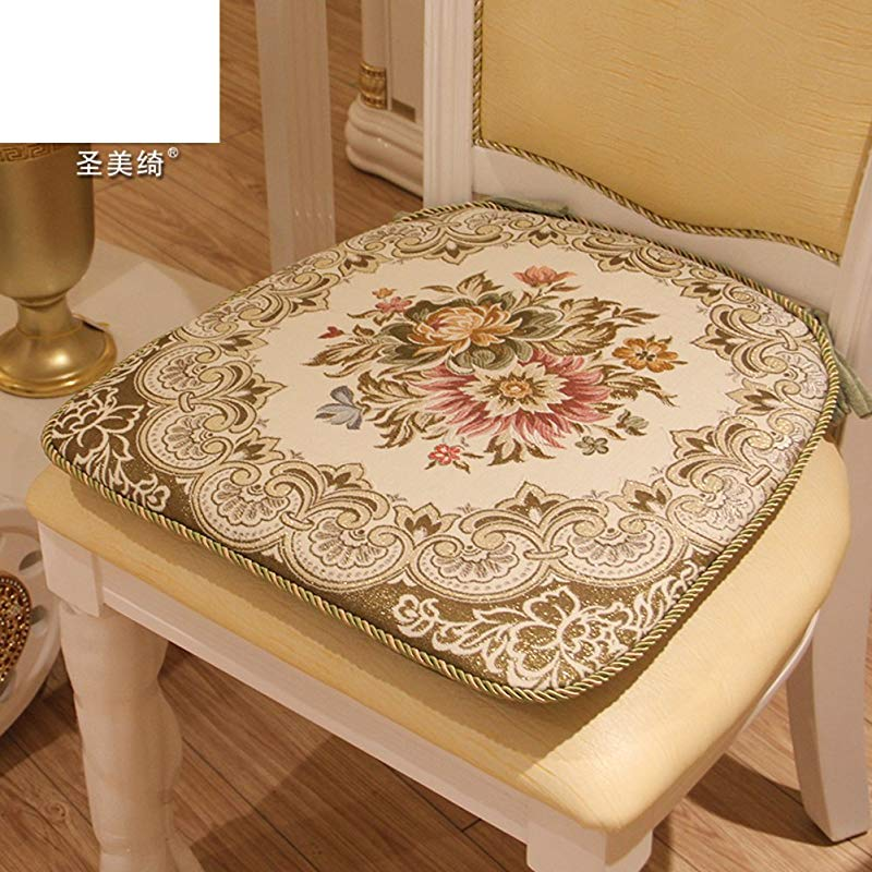 OSHDKSLDS European Style Fabric Dining Chair Pads Office Cushion Cover Removable Cleaning A 46x46cm 18x18inch