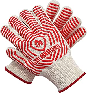 Grill Armor Extreme Heat Resistant Oven Gloves - EN407 Certified 500C - Cooking Gloves for BBQ, Grilling, Baking, Lady Sma...