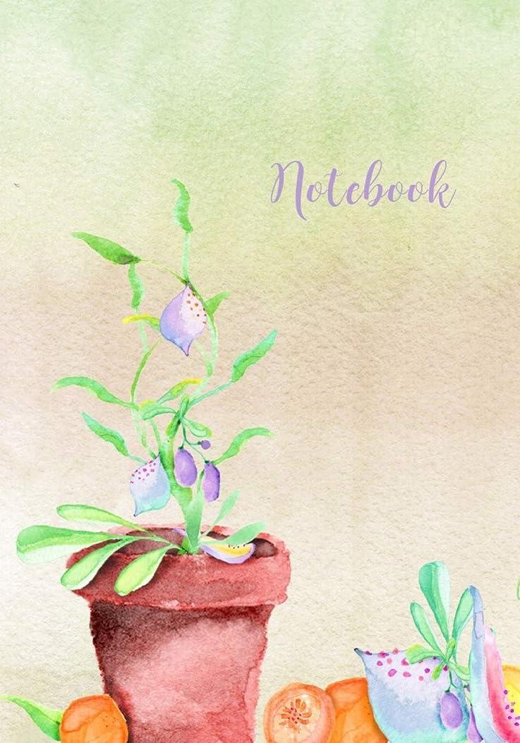 ミケランジェロ動く路地Notebook: Potted Plant with Juicy Fruits Lined Journal