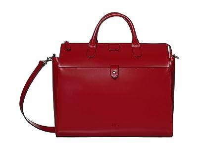 Lodis Accessories Audrey Under Lock Key Kara Work Tote (Red) Handbags