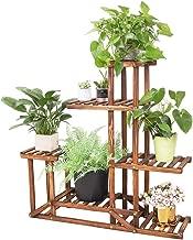 Wooden Plant Stand Flower Shelf Holder 5 Tier Pot Shelves Bonsai Display Storage Rack Outdoor Indoor Garden Patio for Multiple Plants 37.4x9.84x37.79 Inches