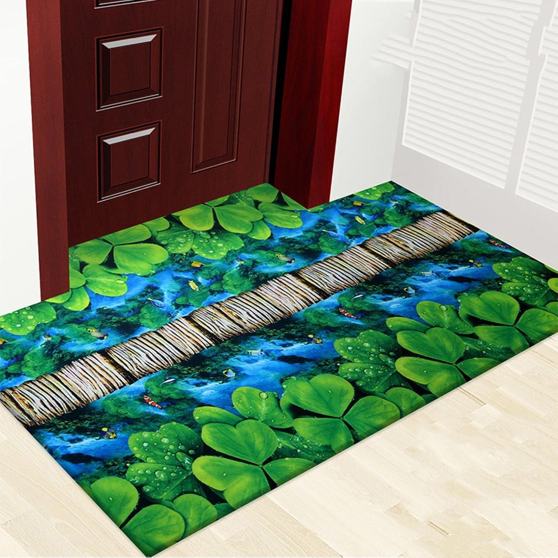 3D color printing plant flower mat mat,Carpet non-slip foot mat Indoor mat [hall] Home door Door mats-L 80x120cm(31x47inch)