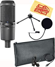 Audio-Technica AT2020USB+ Cardioid Condenser USB Microphone Bundle with Pop Filter and Austin Bazaar Polishing Cloth