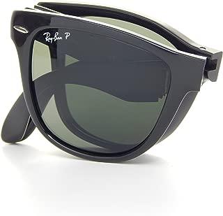 Ray Ban Folding Wayfarer RB4105 601/58 Glossy Black/Polarized Gray 50mm Sunglasses