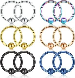 1 paire 9 couleur femme nouveau Corps Nez Hoop lèvres oreille Helix piercing titane anneaux AC