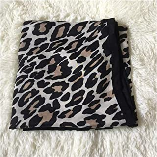 Autumn Winter Scarf Leopard Cotton Linen Shawl Female Keep Warm Scarf,Perfect Accent to Any Outfit (Color : 02, Size : 175cm*100)