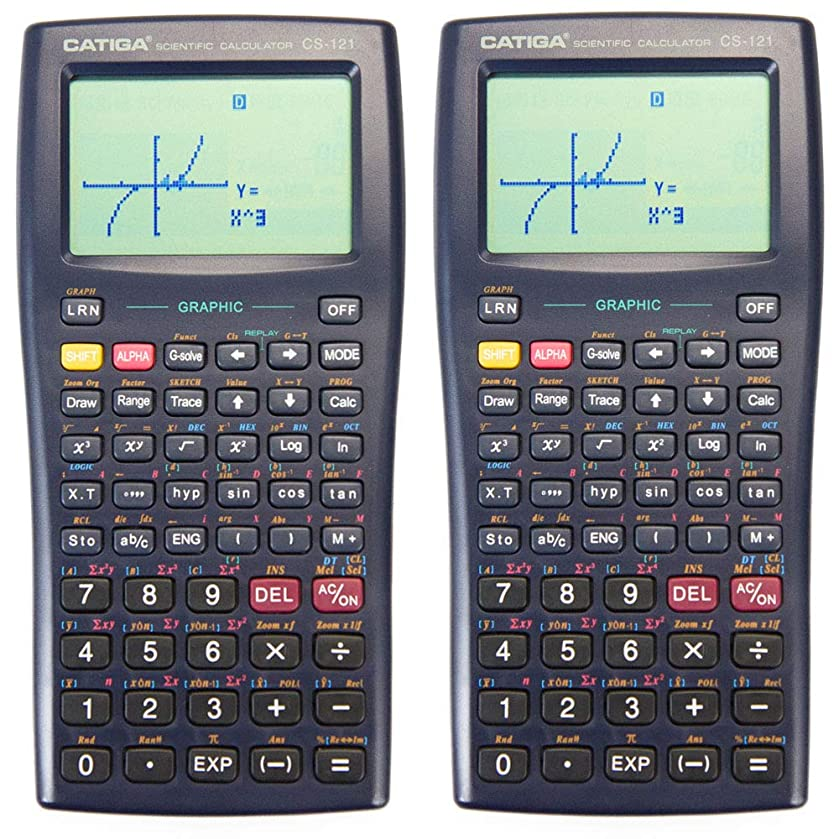 褒賞乱暴な別々にグラフ電卓 - CATIGA CS121 - 科学と工学計算機 - プログラム可能なシステム (2個)