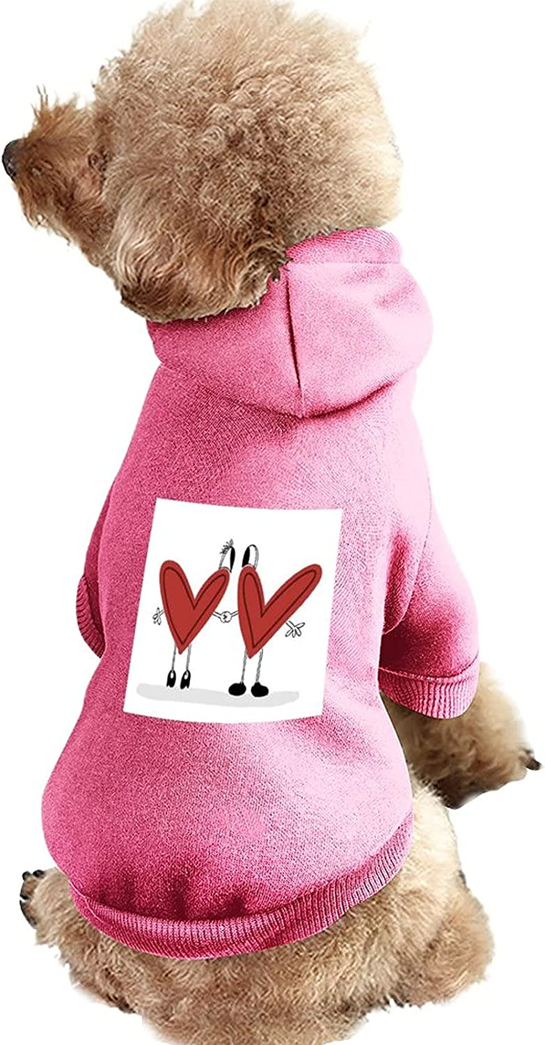 Small Dog Sweater Max 81% Challenge the lowest price OFF Love Facial Expression Suit Pet Organ Font Red