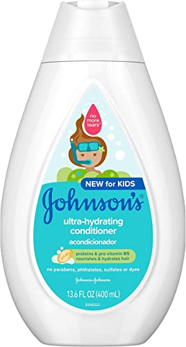 Johnson's Ultra-Hydrating Tear-Free Kids' Conditioner with Pro-Vitamin B5 & Proteins, Paraben-, Sulfate- & Dye-Free F...