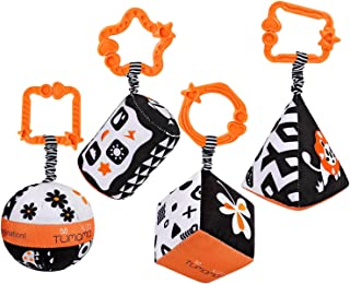 simhoa Babies Crib Hanging Rattle Rings Infant Stroller Newborn Development Toy