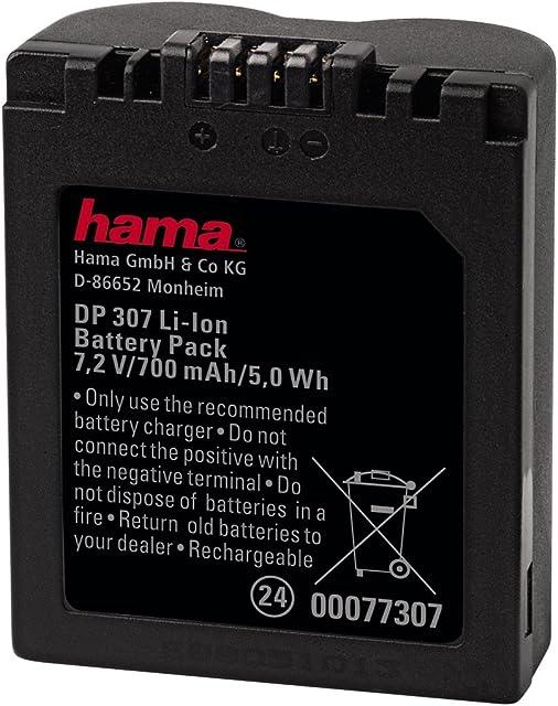 Hama 00077307 - Batería de litio para cámara digital Panasonic CGR-S006E 700 W 7.2 V