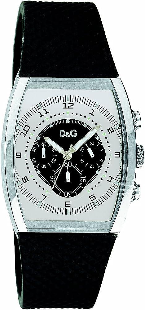 Dolce&gabbana,orologio,cronografo da uomo,con cassa in acciaio inossidabile e cinturino in caucciu` d&g amazing chronograph