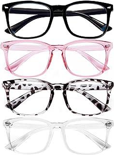 Blue Light Blocking Glasses for Women/Men/FEIDU 4-Pack...