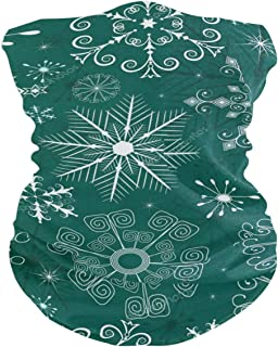 Christmas Green White Pattern Balaclava Womens Headband Scarf Mens Versatile Bandana, Muffler, Neck Gaiter, Magic, Facemask Collars