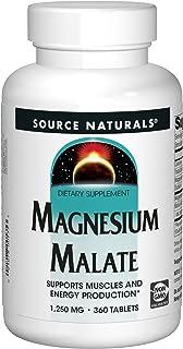Source Naturals Magnesium Malate 1250mg Per Serving Essential Magnesium Malic Acid Supplement - 360 Tablets